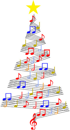 Christmas music tree