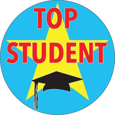 free stock photos: top student Illustration