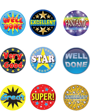 free images stock: well done stickers
