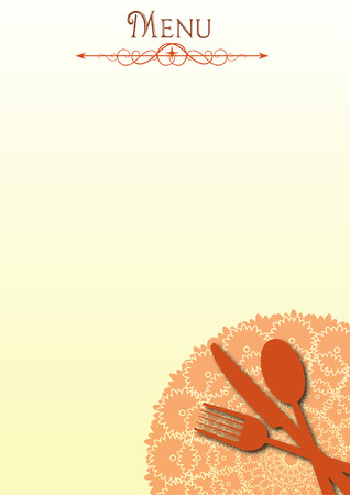 menu illustration Vector