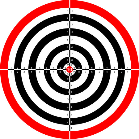 target practice: target Illustration