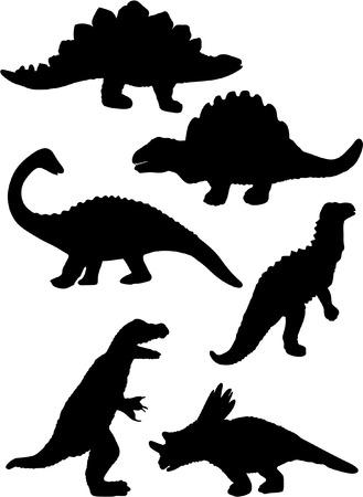 triassic: triassic DINOSAURS silhouettes