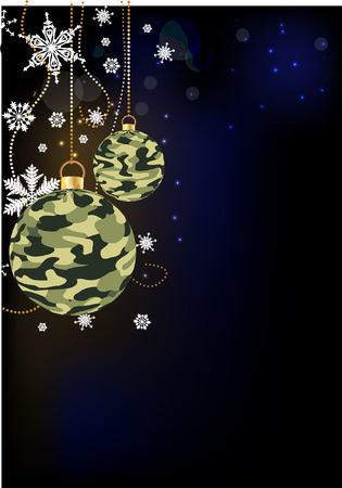 camoflage: camoflage baubles