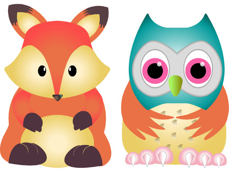woodland: WOODLAND ANIMALS Illustration
