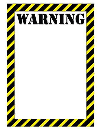 hazardous area sign: WARNING Illustration