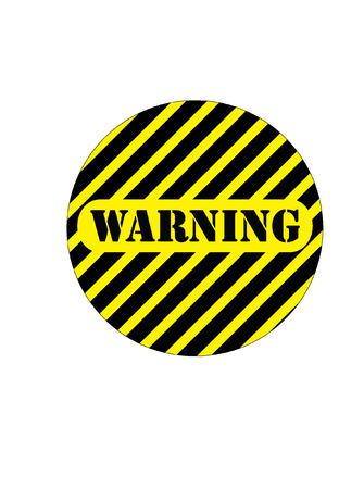 hazardous area sign: WARNING SIGN