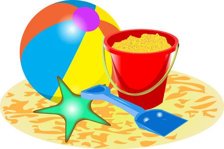 bucket and spade: BEACH BALL BUCKET AND SPADE