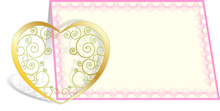 wallpape: HEART WITH CARD Illustration