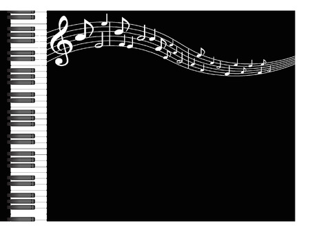 MUSIC BACKGROUND Stock Illustratie