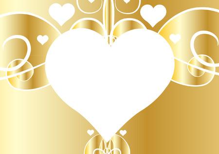 gold heart: GOLD HEART BACKGROUND Illustration