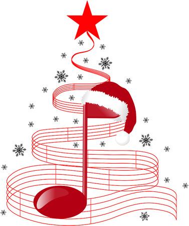 partition musique: ARBRE DE NOEL  Illustration