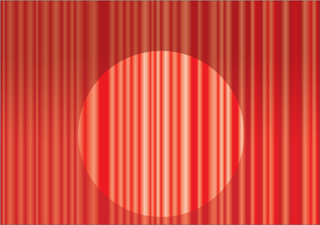 stock photograph: RED CURTAINS Illustration
