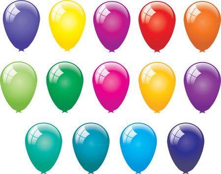 balloon background: BALLOONS Illustration