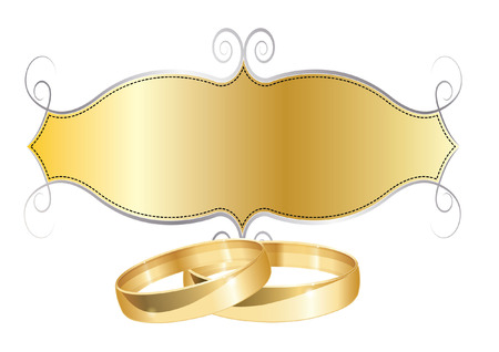 wedding rings 矢量图像