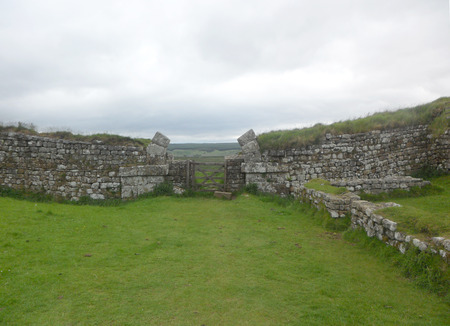 Hadrians Wall in Northumberland on the Scottish Border