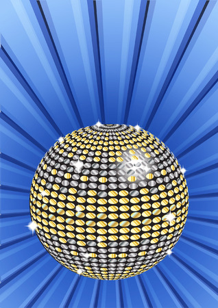 glitter ball: A sparkling glitter ball or disco ball