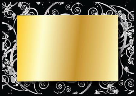 shone: Gold Background Illustration