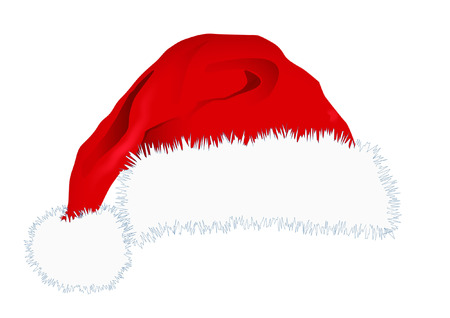 wearing santa hat: santa hat Illustration