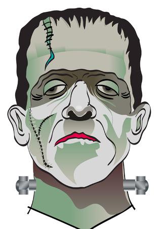 cartoon frankenstein: FRANKENSTINE Illustration