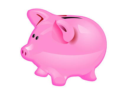 stock photograph: PIGGY BANK Illustration
