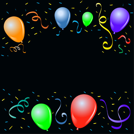 stock photograph: BALLOONS Illustration