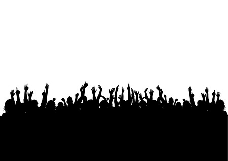 concert crowd: CROWD Illustration