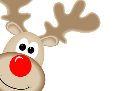 cartoon nose: RUDOLPH