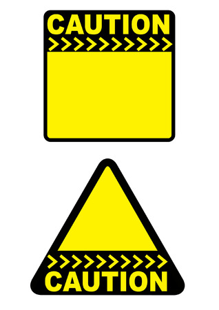 industrial safety: CAUTION