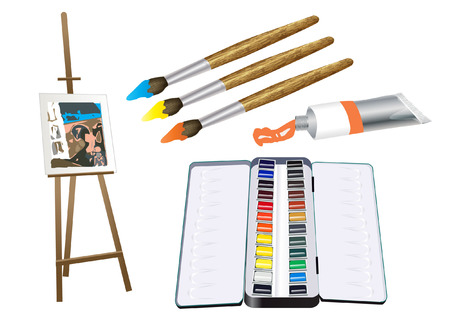 stock photograph: ART materials