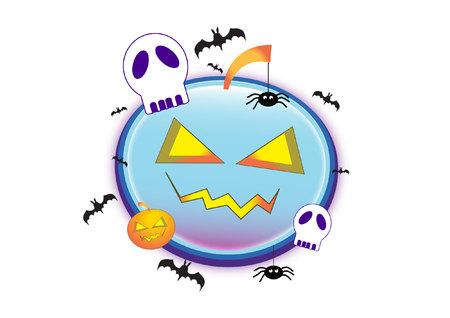 nightmarish: pumpkin Illustration