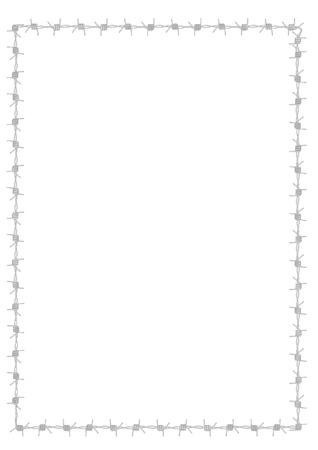 Barbwire Grenze Standard-Bild - 45043704