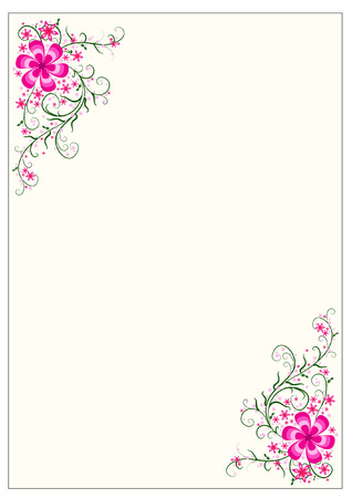 free stock photos: floral border Illustration
