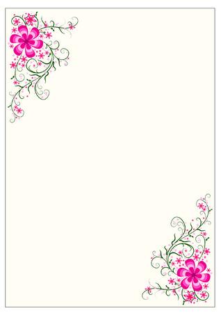 Floral frontera Foto de archivo - 45298261