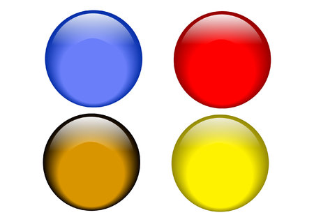 glass button: web buttons