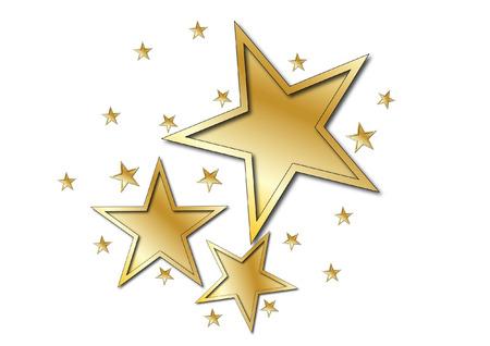 Gold star  イラスト・ベクター素材
