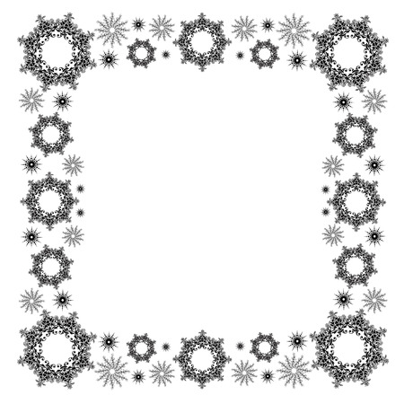 royalty free images: snowflake border Illustration