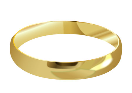 gold ring: Gold ring Illustration