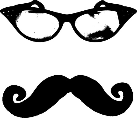 eps picture: glasses and mustache Illustration