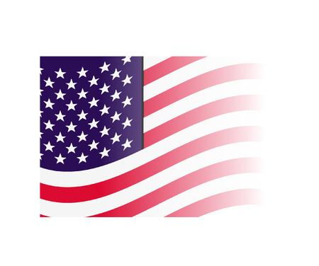 stock photograph: usa flag Illustration