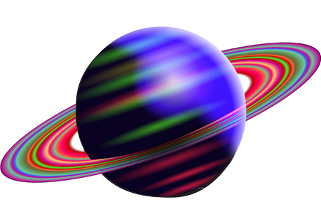 and saturn: saturn Illustration