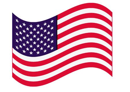 banderas america: estrellas y rayas Vectores