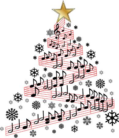 partition musique: Arbre de la musique de Noël