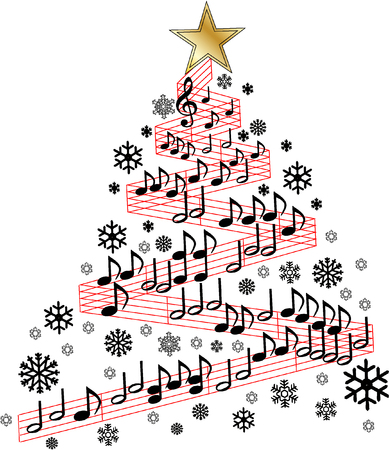 christmas tree music royalty free cliparts vectors and stock rh 123rf com christmas musical clip art christian music clipart free
