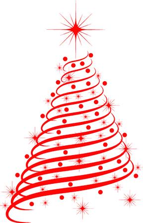 elegant white: christmas tree
