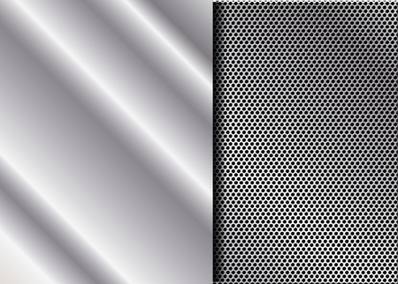 background picture: Vector Metal Grill.