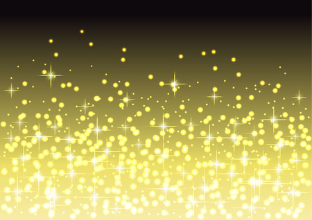 stock photograph: Golden Christmas Lights and Stars Background