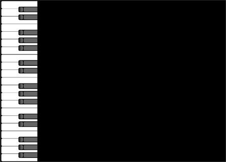 octaves: Piano background Illustration