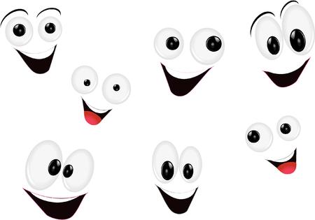 mouth smile: cartoon faces Illustration
