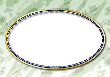 fond ovale