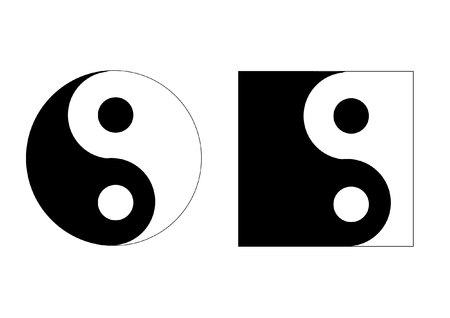 good karma: ying yang illustration